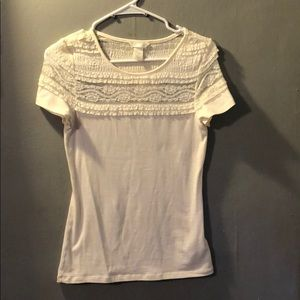 Lacey short- sleeve top